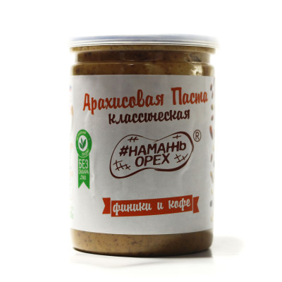 Peanut paste classic dates and coffee SPREAD NUT 230 gr