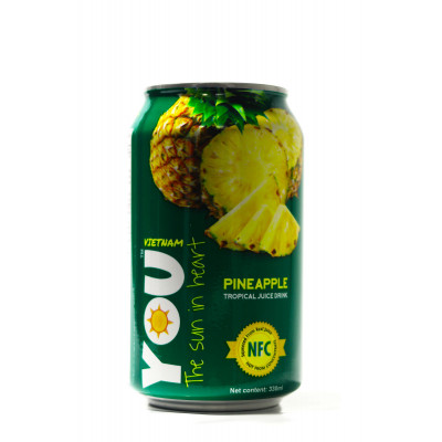 YOU drink with tropical fruit juice (Pineapple) 330 ml
